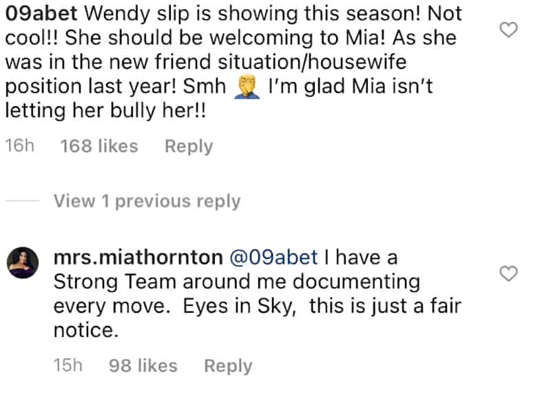 RHOP Mia Thornton Warns of Legal Action Against Dr. Wendy Osefo