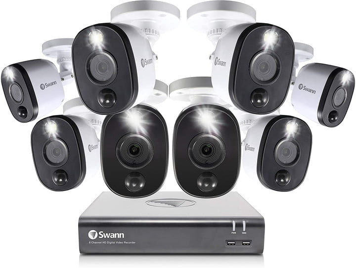 The Swann 8-cam security system and DVR.