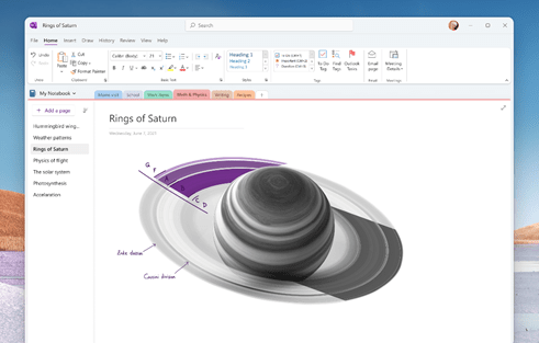 Mockup of the new unified OneNote