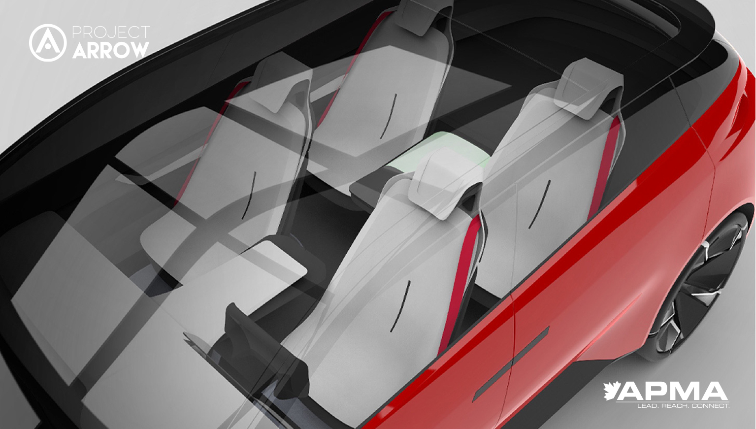 internal view of Project Arrow concept car