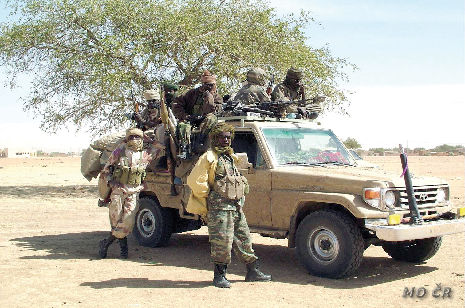 solders use a Toyota land cruiser